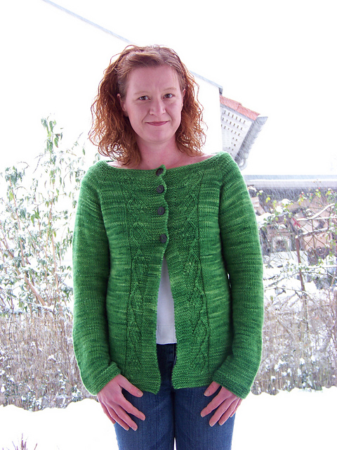 Strickanleitung Green Leaf Cardigan von Melanie Mielinger