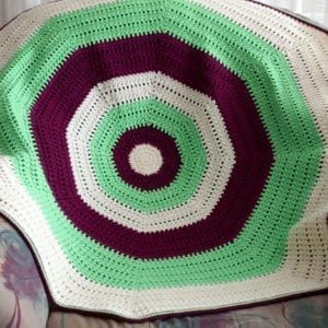Häkelanleitung Funky Octagon Throw von Mareike Meyer / The Yarn Adventurer