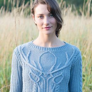 Strickanleitung Stag Head Pullover von Norah Gaughan