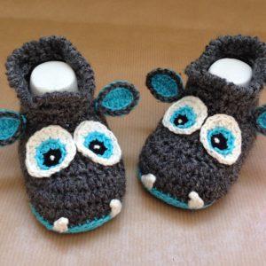 Häkelanleitung Babyschuhe Drachenbabys von The KnitKnotShop