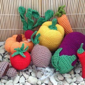 Häkelanleitung Gemüsekorb von The KnitKnotShop