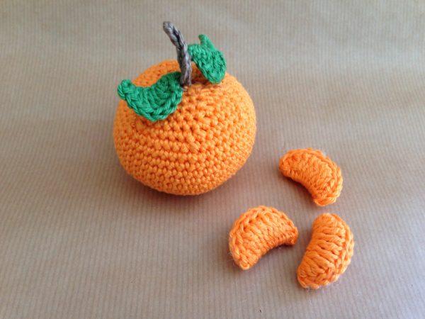 Häkelanleitung Obst Clementine von The KnitKnotShop