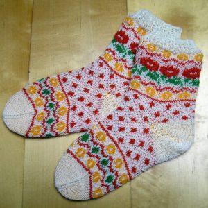 Strickanleitung Herbstblumen von Marianne Radeloff / Knitteltante