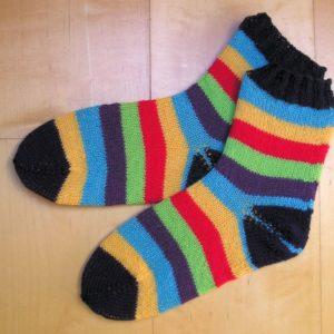 Strickanleitung Blockstreifen von Marianne Radeloff / Knitteltante