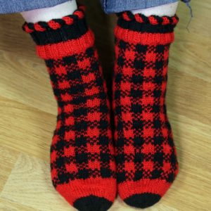 Strickanleitung Happiness Plaid Socken von Tanja Lüscher