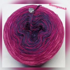 Wollcandy Beerenpunsch - Farbverlaufswolle aus Baumwolle und Polyacryl