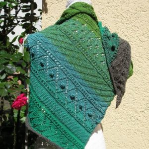 Strickanleitung Tuch Grünland von Marianne Radeloff / Knitteltante