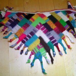 Strickanleitung Dreieckstuch Gaukler von Marianne Radeloff / Knitteltante