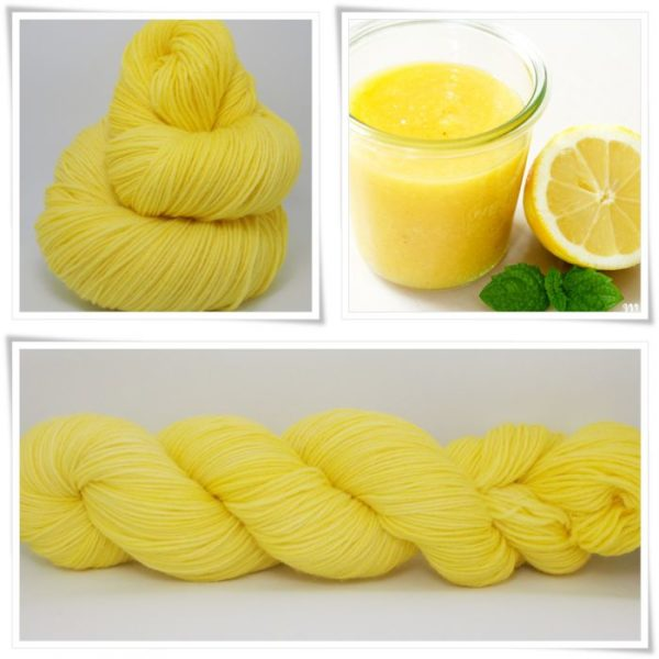 Lemon Curd Merino-Sockenwolle 4-fach
