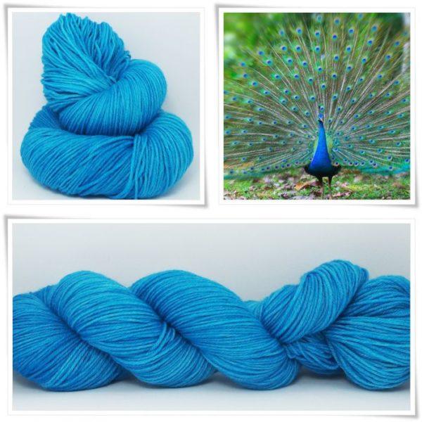 Peacock Blue Merino-Sockenwolle 4-fach