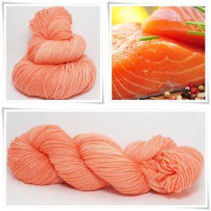 Salmon Merino-Sockenwolle 4-fach