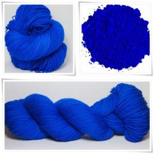 Ultramarine Blue Merino-Sockenwolle 4-fach