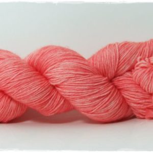 Coral Pink Merino-Sockenwolle 4-fach
