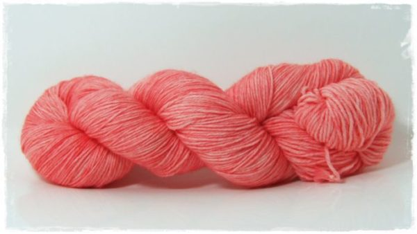 Coral Pink Merino-Sockenwolle 4-fach
