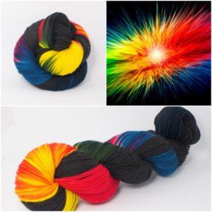 Abstract Merino-Sockenwolle 4-fach von Wollelfe