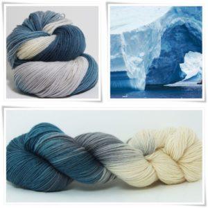 Antarktis Sockenwolle 4-fach von Wollelfe