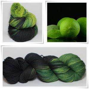 Black Lemon Merino-Sockenwolle 4-fach von Wollelfe