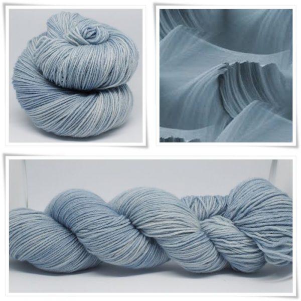 Blue grey Merino-Sockenwolle 4-fach von Wollelfe
