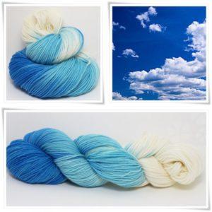 Blue Sky Merino-Sockenwolle 4-fach von Wollelfe