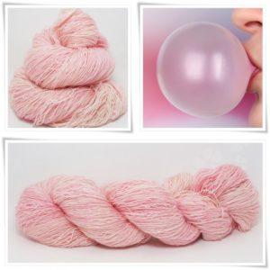 Bubble Gum Merino-Lace von Wollelfe