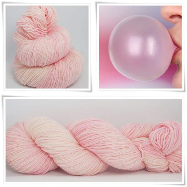 Bubble Gum Sockenwolle 4-fach von Wollelfe