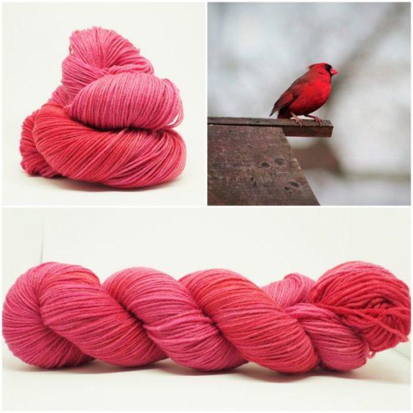 Cardinal Red Sockenwolle 4-fach von Wollelfe