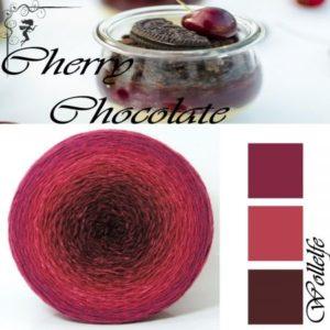 Cherry Chocolate - Merino Pure von Wollelfe