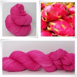 Dragonfruit Merino-Sockenwolle 4-fach von Wollelfe