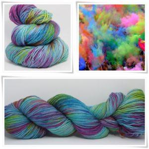 Farbenspiel Merino-Sockenwolle 4-fach von Wollelfe