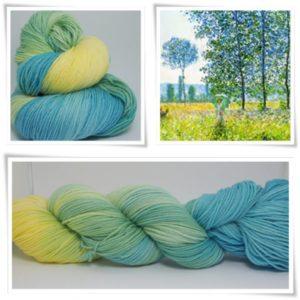 Frühling Merino-Sockenwolle 4-fach von Wollelfe