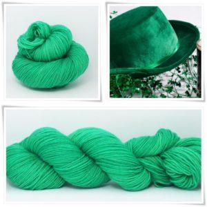 Kelly Green Merino-Sockenwolle 4-fach von Wollelfe