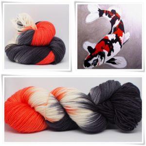 Koi Merino-Sockenwolle 4-fach von Wollelfe