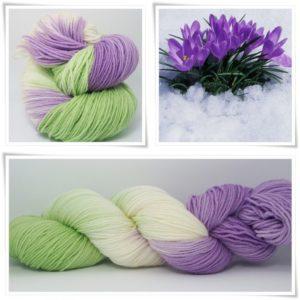 Krokus Merino-Sockenwolle 4-fach von Wollelfe