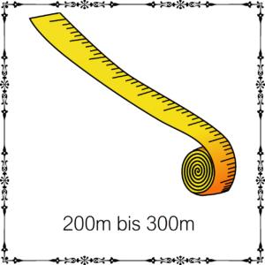 200m - 300m je 100g