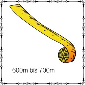 600m - 700m je 100g