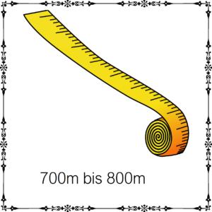 700m - 800m je 100g