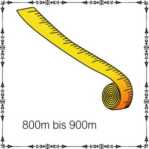 800m - 900m je 100g