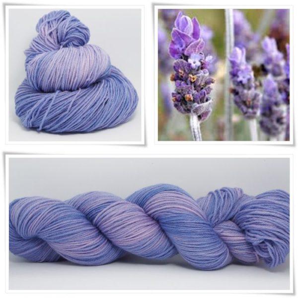 Lavender Merino-Sockenwolle 4-fach von Wollelfe