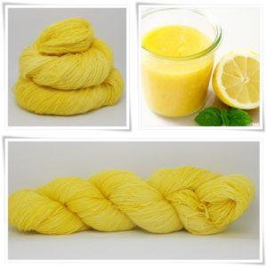 Lemon Curd Merino-Lace von Wollelfe