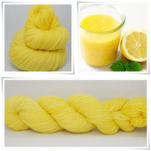 Lemon Curd Sockenwolle 4-fach von Wollelfe