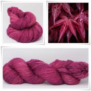 Maroon Merino-Lace von Wollelfe
