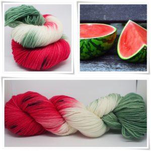 Wassermelone Sockenwolle 4-fach von Wollelfe