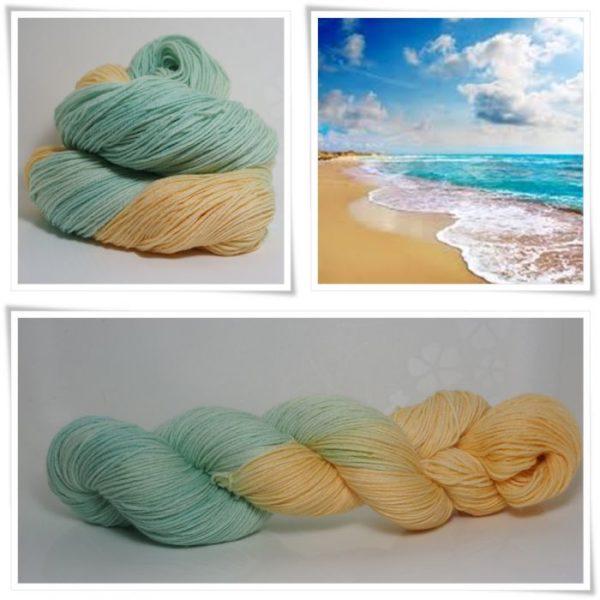 Ozean-Sonne Sockenwolle 4-fach von Wollelfe