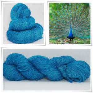 Peacock Blue Merino-Lace von Wollelfe