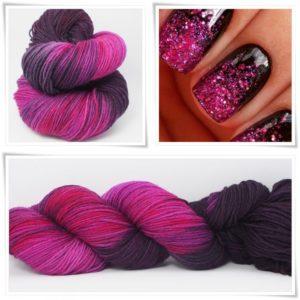 Pink Fashion Merino-Sockenwolle 4-fach von Wollelfe
