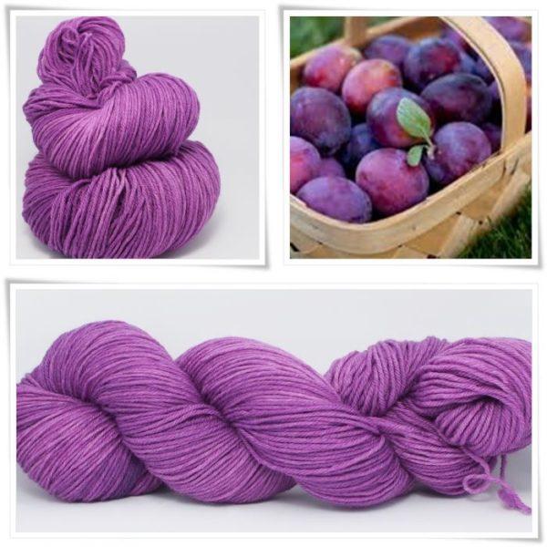 Plum Merino-Sockenwolle 4-fach von Wollelfe