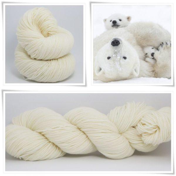 Polarbear Sockenwolle 4-fach von Wollelfe