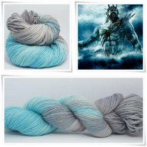 Poseidon Sockenwolle 4-fach von Wollelfe