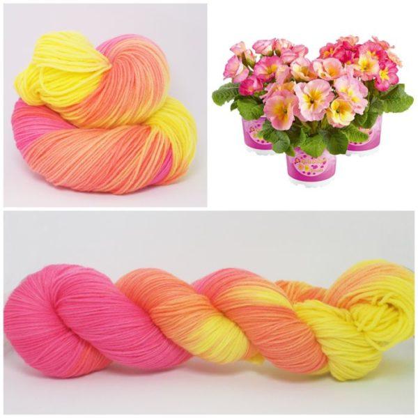 Primel Sockenwolle 4-fach von Wollelfe