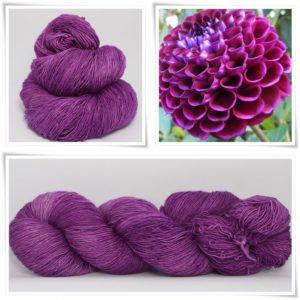 Red Violet Merino-Lace von Wollelfe
